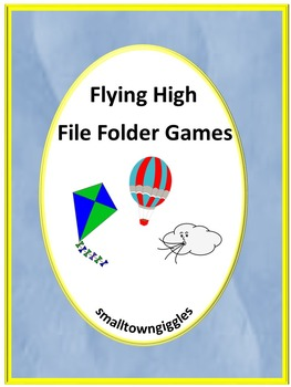 Kites Math and Literacy File Folder Games for Centers or Stations