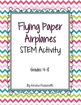 Flying Paper Airplanes {STEM Activity}