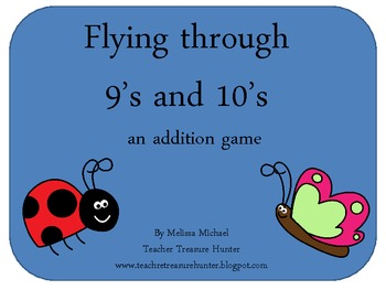 Math addition game * Flying through 9's and 10's * Adding
