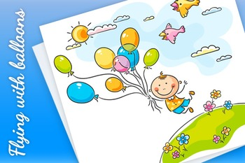 Flying with the balloons