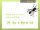 Flyswatter activity: X- and Y- Intercepts