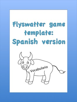 Spanish flyswatter printable template