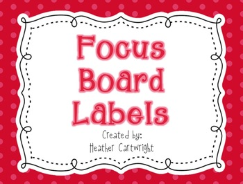 Focus Board Headers/Labels: Red Polka Dot and Stripe