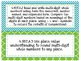 Focus Wall Customizable Turquoise and Green 4th Grade CCSS
