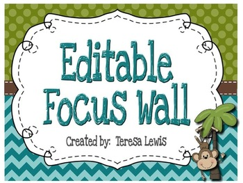 Focus Wall Customizable Monkey Theme