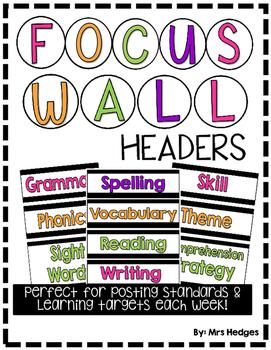 Focus Wall Headers: Black & Brights