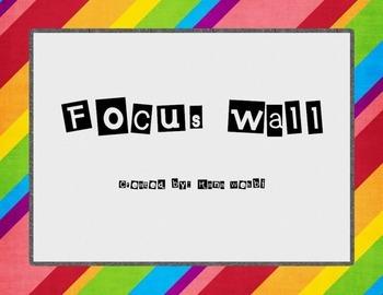 Focus Wall Headers, Math, Literacy, Science, Phonics
