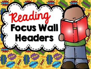 Focus Wall Headers - Super Hero Theme
