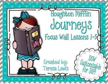 Focus Wall:  Houghton Mifflin Journeys Unit 1 Lessons 1-5