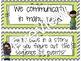 Focus Wall:  Houghton Mifflin Journeys Unit 2 Lessons 6-10