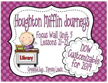 Focus Wall: Houghton Mifflin Journeys Unit 5 Lessons 21-25