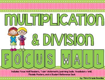 Third Grade Multiplication & Division - Focus Wall