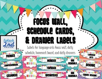 Focus Wall, Schedule Cards, Drawer Labels