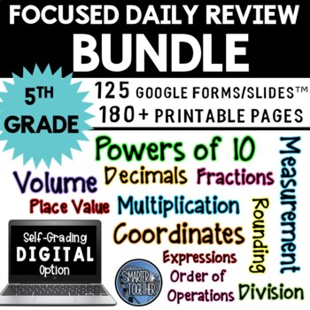 Focused Daily Review - 5th Grade - Common Core Aligned - BUNDLE