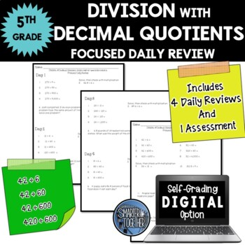 Division of Decimal Numbers - Focused Daily Review - Commo