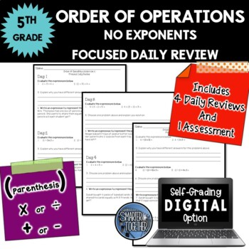 Order of Operations - No Exponents - Focused Daily Review