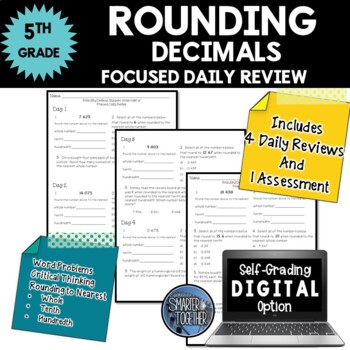 Rounding Decimals - Focused Daily Review - Common Core - 5