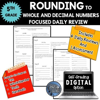 Rounding - Whole and Decimal Numbers - Focused Daily Revie