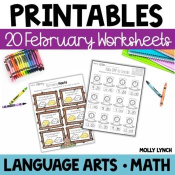 February NO PREP Printables!