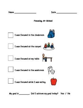 Focusing At School Behaviour Checklist
