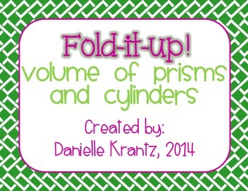 Volume of Prisms and Cylinders Foldable Notes