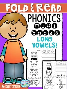 Phonics Reading Books- Long Vowels (Fold & Read)