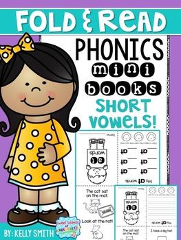 Phonics Reading Books- Short Vowels (Fold & Read)