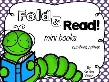 Fold and Read mini books - Numbers 0-10