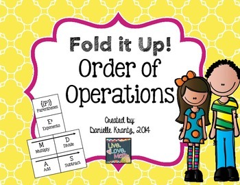 Order of Operations Foldable Notes