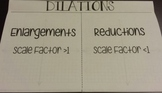 Dilations Foldable Notes