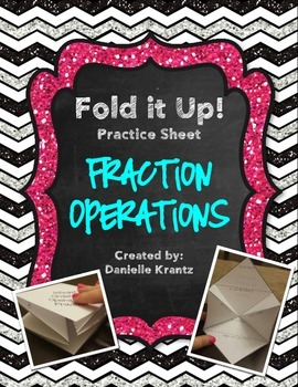 Fraction Operations Foldable Practice
