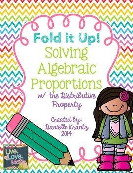 Algebraic Proportions Foldable Notes
