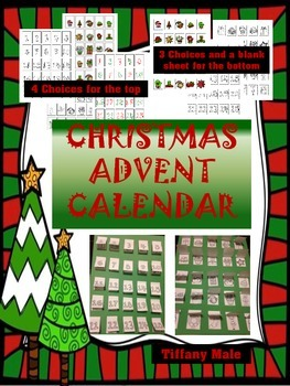 Foldable Christmas Advent Calendar