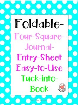 Foldable- Four-Square-Journal- Entry-Sheet Easy-to-Use Tuc