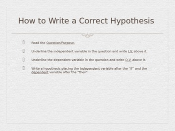Hypothesis Folded Powerpoint