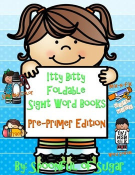 Foldable Itty Bitty Sight Word Books Pre-Primer Edition