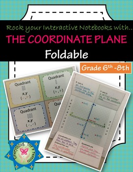 Foldable The Coordinate Plane (Vocabulary)