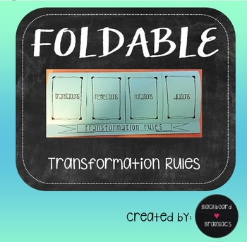 Foldable Transformations Rules Graphic Organizer Interacti