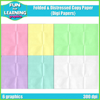 Folded & Distressed Digi Papers