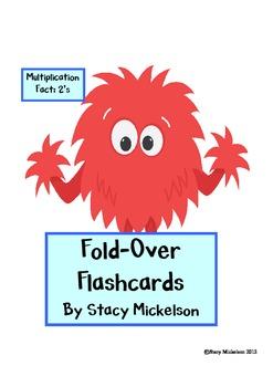 Folded Flashcards - Multiplication - 2's
