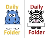 Folder Covers for Home/School Communication - Wild Animal Theme