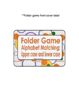 Folder Game: alphabet matching