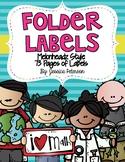 Folder Labels {Freebie} Melonheadz Edition