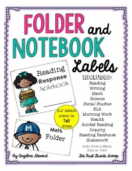 Folder and Notebook Labels for Many Subjects