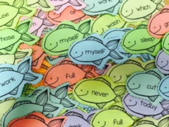 Folder of Dolch Sight Word Fish