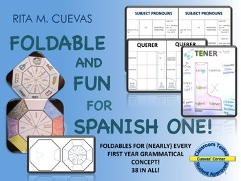 Foldable Graphic Organizers for the Spanish Classroom