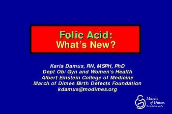 Folic Acid PowerPoint Presentation