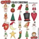 """Folk Art Christmas Clip Art: """"Folksy Christmas"""""""