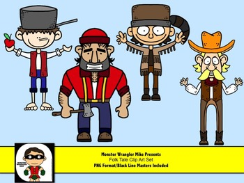 Folktale Characters: Davy Crockett, Pecos Bill, Paul Bunya