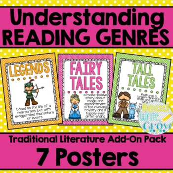Folktale & Traditional Literature Genre Posters